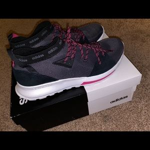 Adidas Quesa Shoes size 11 grey black pink